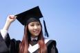 happy graduate student girl